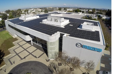MITSUBISHI ELECTRIC SOLAR MODULES POWER INNOVATION AT MAZDA'S U.S. R&D CENTER