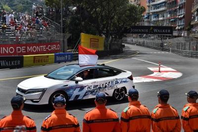 Prince Albert Of Monaco Drives The Honda Clarity Fuel Cell In Lap Of Honour At Formula 1 Grand Prix De Monaco 2017