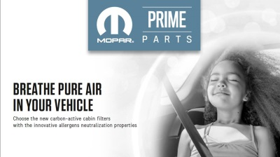 NEW MOPAR IN-CAR ANTI-ALLERGEN FILTER OFFER NOT TO BE SNEEZED AT