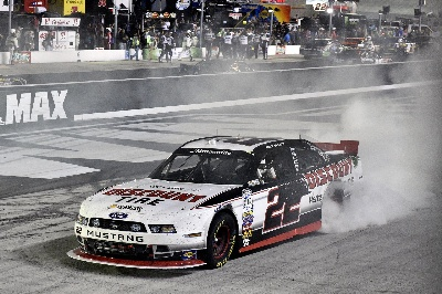MUSTANG VISITS VICTORY LANE AGAIN AS RYAN BLANEY WINS NASCAR NATIONWIDE RACE AT BRISTOL MOTOR SPEEDWAY