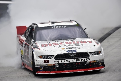 MUSTANG LEADS ALL 300 LAPS AND CARRIES JOEY LOGANO TO NASCAR XFINITY WIN AT BRISTOL MOTOR SPEEDWAY
