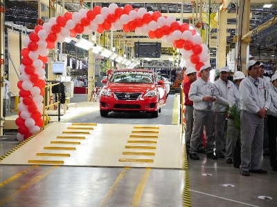 NISSAN AGUASCALIENTES A2 PLANT PRODUCES ITS 200,000TH VEHICLE