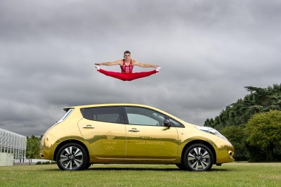 NISSAN GOLD FOR RIO GOLD – NISSAN ATHLETE AMBASSADORS GIFTED WITH GOLD LEAF