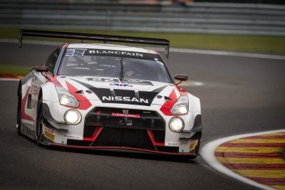 NISSAN BATTLES AT SPA AS BOTH GT-RS GET TO THE CHECKERED FLAG