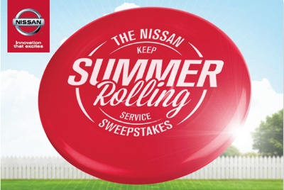 NISSAN REWARDS OWNERSHIP AND SERVICE WITH 'KEEP SUMMER ROLLING SERVICE SWEEPSTAKES'