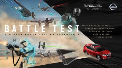 Nissan Rogue Stars In Immersive Star Wars-Themed 360-Degree Virtual Reality Experience Available Now