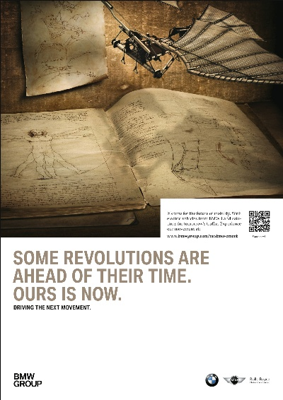 'DRIVING THE NEXT MOVEMENT' - BMW GROUP CAMPAIGN FOR A REVOLUTION IN MOBILITY