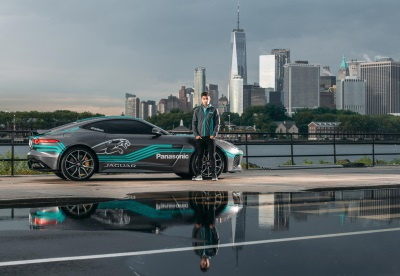 Panasonic Jaguar Racing Driver Mitch Evans Visits New York City To Preview Upcoming Formula E Race