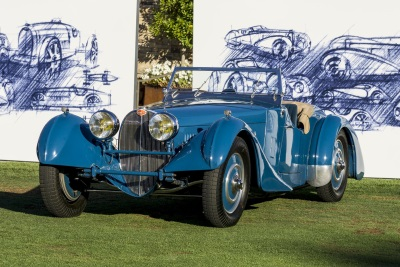 PEBBLE BEACH 2015: BUGATTI PRESENTS SUCCESSFUL SUPER SPORTS CARS FROM THE COMPANY'S HISTORY