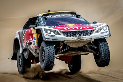 Stage Victory For Peterhansel Despres New Silk Way Rally Leader After Loeb Hits Trouble