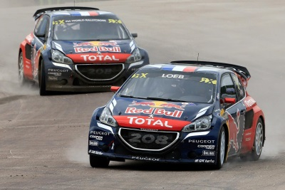 THE PEUGEOT 208 WRXS STAGE SWEDISH SHOW EN ROUTE TO 2ND AND 3RD PLACES IN THE WORLD RX ORDER, PLUS THE EURO RX WIN