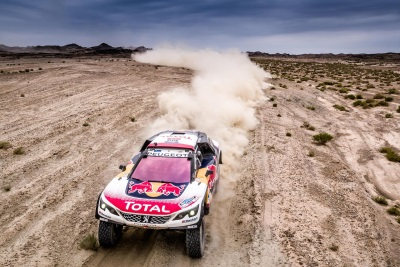 Peugeot Claims Sixth One-Two Stage Finish At Silk Way Rally Today