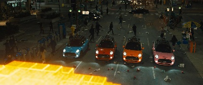 PIXELS: THE LATEST SCI-FI COMEDY BY SONY PICTURES SEES THE MINI COOPER S COME TO THE RESCUE OF THE WORLD