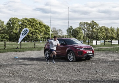 Man Versus Machine: New High Performance Range Rover Evoque Goes Head-To-Head With Owen Farrell