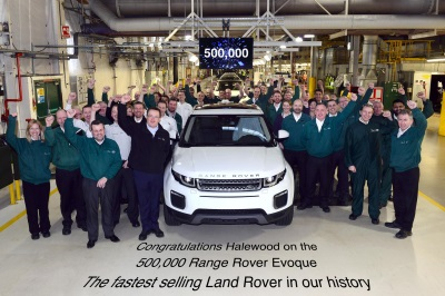 RECORD-BREAKING RANGE ROVER EVOQUE REACHES HALF A MILLION PRODUCTION MILESTONE