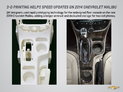 Rapid Prototyping Speeds Updates On 2014 Chevrolet Malibu