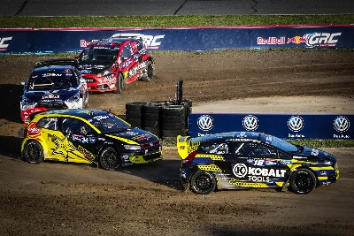 RED BULL GLOBAL RALLYCROSS POINTS RACE HEATS UP FOR OLSBERGS MSE DRIVERS JONI WIMAN AND PATRIK SANDELL BATTLE IN DAYTONA