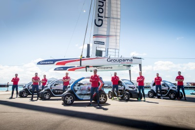 Renault Delivers Ten Twizys To America's Cup Challenger Groupama Team France
