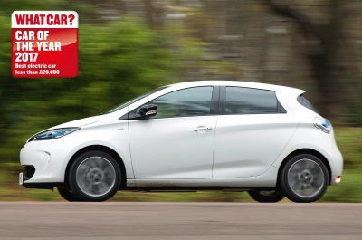 ZOE NAMED BEST ELECTRIC CAR AS IT WINS FOR THE FOURTH CONSECUTIVE YEAR AT WHAT CAR? AWARDS 2017