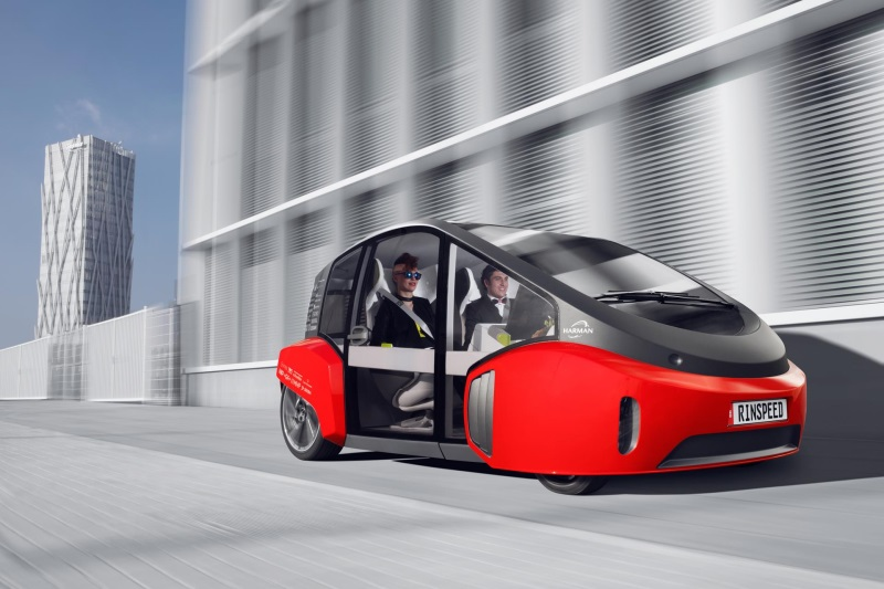 European Premiere: Rinspeed Presents The Clever Urban 'Oasis' Runabout At The Geneva Motor Show 2017