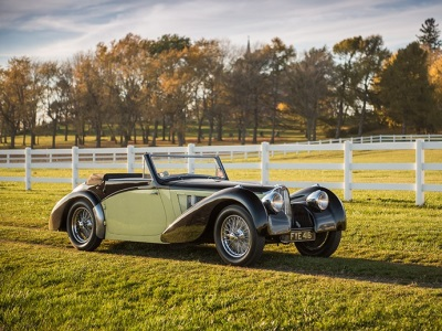 RARE BUGATTI TYPE 57S CABRIOLET BY VANVOOREN OFFERED FOR PUBLIC SALE FOR FIRST TIME AT RM SOTHEBY'S AMELIA ISLAND