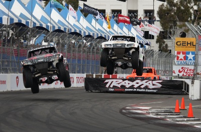 ROBBY GORDON TAKES TRAXXAS RACE AT GRAND PRIX OF LONG BEACH