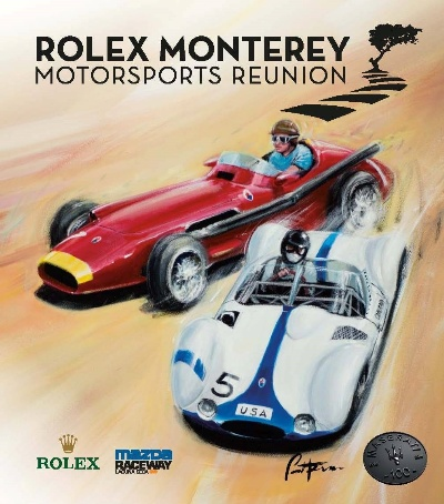 Two Iconic Maseratis Featured in Rolex Monterey Motorsports Reunion Poster