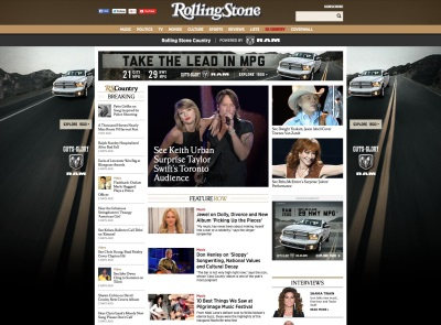 ROLLING STONE COUNTRY AND RAM TRUCK ANNOUNCE PARTNERSHIP TO CREATE CUSTOM CONTENT FOR COUNTRY MUSIC FANS