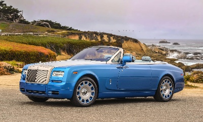 ROLLS-ROYCE PHANTOM DROPHEAD COUPÉ WATERSPEED COLLECTION ARRIVES AT NORTH AMERICA'S PRE-EMINENT AUTOMOTIVE WEEKEND