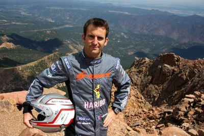FRENCH RACING STAR ROMAIN DUMAS WILL BE BACK ON PIKES PEAK AGAIN THIS YEAR AND HE'S GOT HIS EYES ON A NEW RECORD
