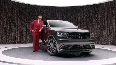 RON BURGUNDY ANCHORS NEW 2014 DODGE DURANGO ADVERTISING CAMPAIGN