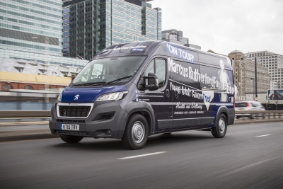 Marcus Rutherford Foundation And Peugeot Tour Arrives At The London Motor Show