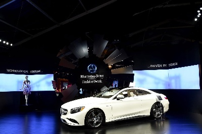 S63 AMG COUPE DRIVES THE INTERSECTION OF DESIGN, LUXURY & TECHNOLOGY AT MERCEDES-BENZ FASHION WEEK