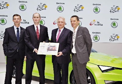 ŠKODA - official Tour de France partner until 2018