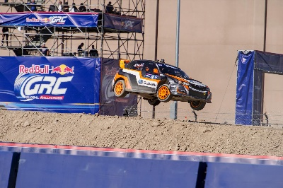 SUBARU DRIVER BUCKY LASEK EARNS PODIUM FINISH AT LAS VEGAS GLOBAL RALLYCROSS SEASON FINALE