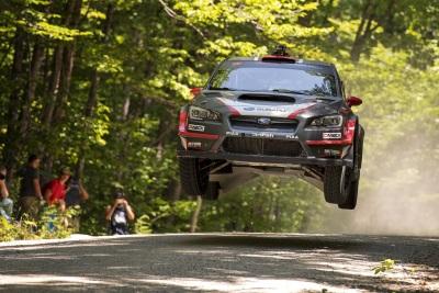 Subaru Driver Travis Pastrana Wins Dramatic New England Forest Rally
