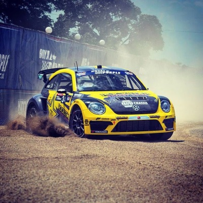TANNER FOUST CRASHED OUT IN DETROIT RALLYCROSS