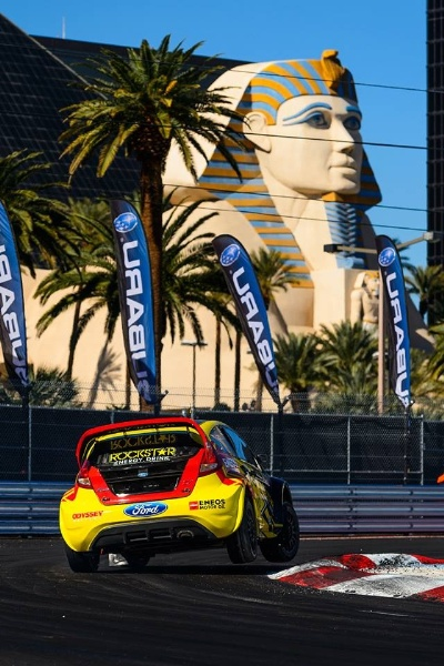TANNER FOUST EARNS RALLYCROSS PODIUM IN LAS VEGAS ROCKSTAR ENERGY DRINK DRIVER RUNNER-UP IN 2013 GRC