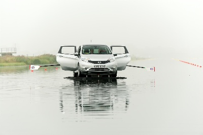 THREE ROWERS AND A NOTE BOAT: NISSAN'S NEW SMALL CAR IS LAUNCHED IN ENGLAND