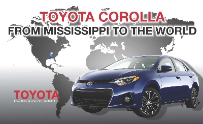 The Toyota Corolla: Now Exported from Mississippi to the World