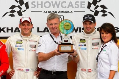 TUDOR UNITED SPORTSCAR CHAMPIONSHIP, ROUND 8 OF 12, ELKHART LAKE, WISCONSIN; PORSCHE 911 RSR EARNS ROAD AMERICA TOP-FIVE