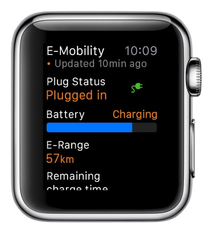 VEHICLE REMOTE CONTROL FOR THE WRIST - APPLE WATCH CONTROLS PORSCHE CAR CONNECT FOR APPLE WATCH