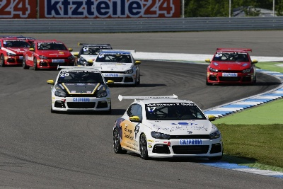HOME RACE FOR VOLKSWAGEN: THE OPPOSITION GOES IN PURSUIT OF DOUBLE WINNER JORDAN LEE PEPPER IN THE SCIROCCO R-CUP