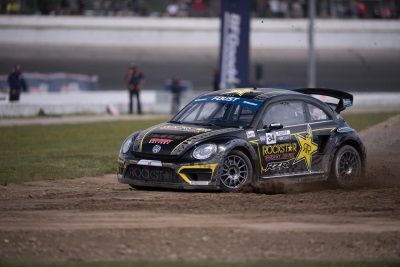 Volkswagen Andretti Rallycross Team Makes Three Podium Finishes In Red Bull Global Rallycross At Thompson Speedway