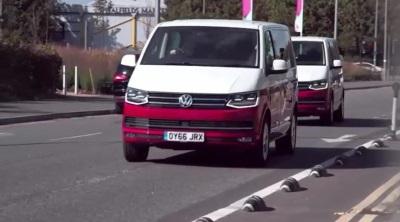 Super Chic Volkswagen Caravelles Transport Britain's Next Top Models