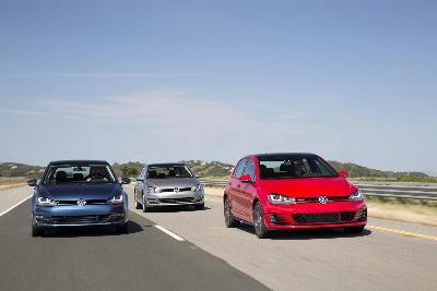 THE VOLKSWAGEN GOLF AND GOLF GTI ARE NAMED TO CAR AND DRIVER'S 2015 '10BEST' LIST