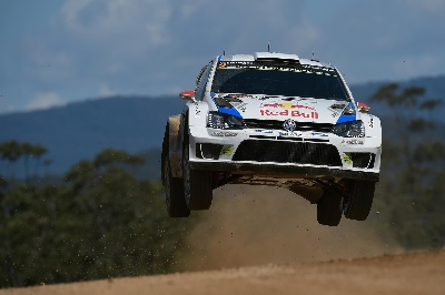 VOLKSWAGEN IS WORLD RALLY CHAMPION* AGAIN, COURTESY OF ONE-TWO-THREE IN AUSTRALIA