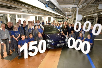 Production Anniversary: 150 Millionth Volkswagen Leaves Assembly Line At Main Plant In Wolfsburg Today