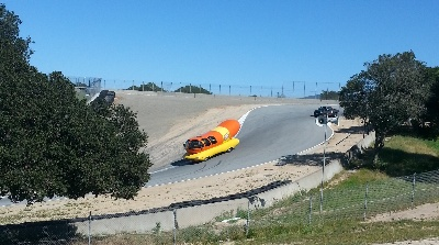 Wienermobile Visits Mazda Raceway Laguna Sec