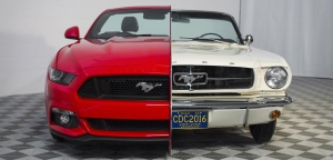 Side-By-Side 1965, 2015 Mustang Display Showcases 50 Years Of Innovation